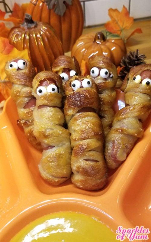 Pretzel Mummy Dogs