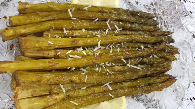 This Oven Roasted Asparagus recipe may just be the perfect healthy side dish. Super tender, simple, and delicious!