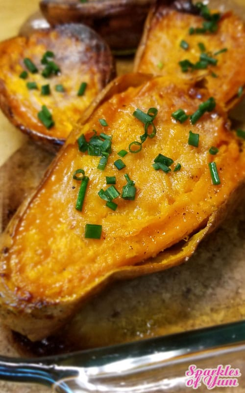 With this easy no fuss method, we'll definitely be putting these Baked Sweet Potato Halves into our meal plan more often.