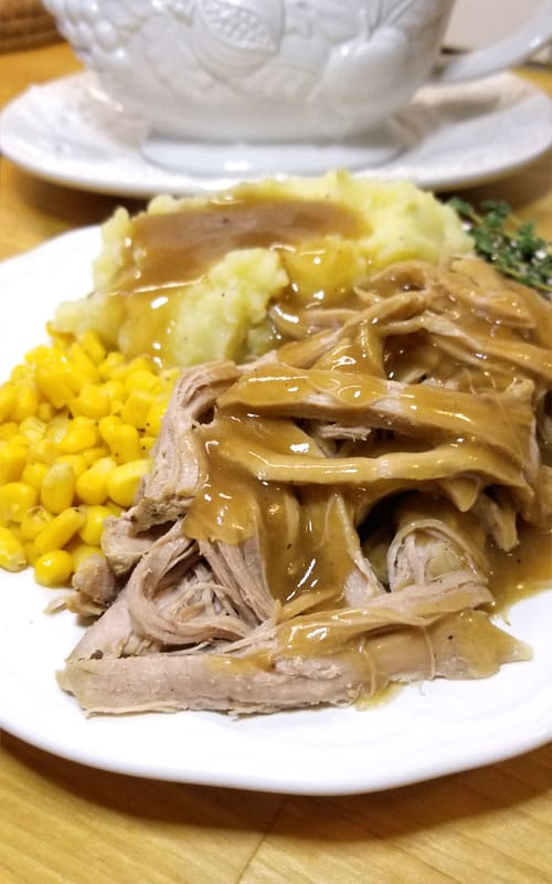 Trisha Yearwood's Crock Pot Pork Tenderloin is great with mashed potatoes, on a sandwich, and just deelish for finger pickin'! Spoon tender and SO tasty! But what set this recipe above the others was the gravy!!!  It is over the moon good! This recipe is a definite keeper.