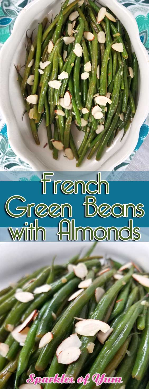 The perfect recipe for French Green Beans that are buttery and nutty, with a hint of lemon and garlic for some extra tasty goodness! #sidedish #glutenfree #veganrecipe #paleo