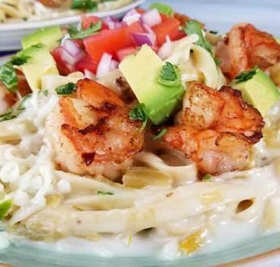 Creamy Mexican Shrimp Pasta