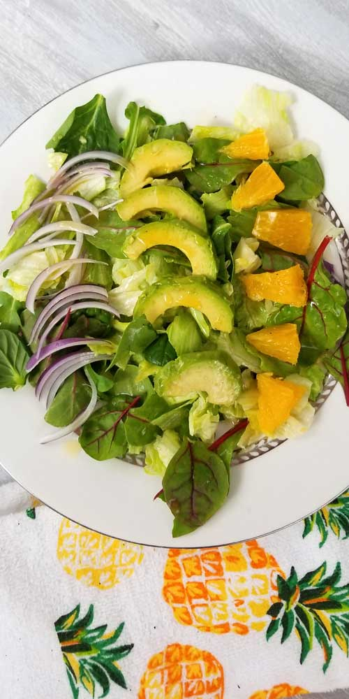 An absolutely divine gathering of fresh summer flavors come together in this Cuban Avocado & Citrus Salad with a Honey Lemon Dressing that's just bursting with vibrant healthy flavors and ingredients that you may already have on hand or at least are easy to find.