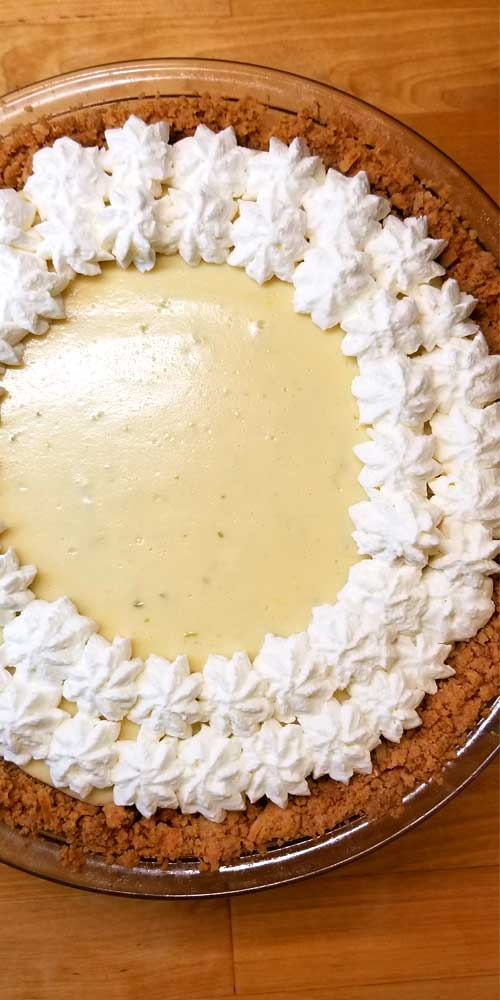 This Classic Key Lime Pie hits all of your tastebuds. You may even get up and do a dance in between bites. It's so creamy and tangy at the same time, so easy and so delicious! Pure yum! Good luck stopping at one piece!