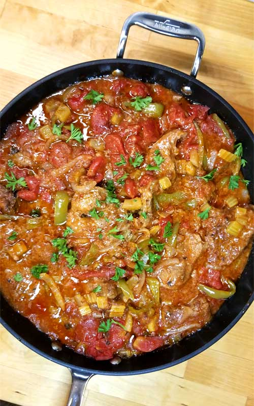 """Swiss Steak is so tender and delicious, it comes together quick and is classic comfort food loved by all. However: Swiss Steak does not stem from Switzerland, as the name suggests, but from the technique oftenderizingby pounding or rolling, called """"swissing""""."""