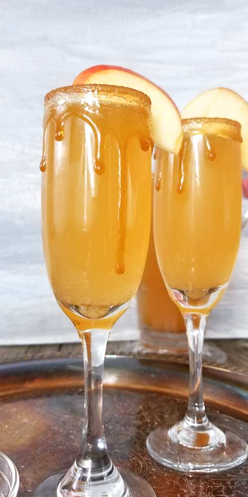 Whatever get-together you have planned for this fall, from birthdays, to book clubs, to Thanksgiving morning, this Caramel Apple Cider Mimosa will bring all the flavors of fall together for the perfect celebration!