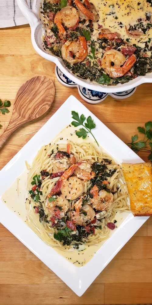 Garlic Butter Tuscan Shrimp in Creamy Wine Sauce