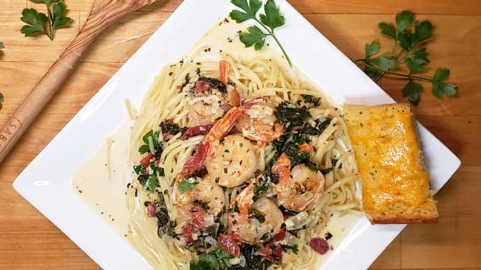 Need a super simple, quick, Chef's quality dinner for a busy day to serve your guests? You can have thisGarlic Butter Tuscan Shrimp in Creamy Wine Sauce on the table in under 30 minutes and it's packed with my favorite Italian flavors!