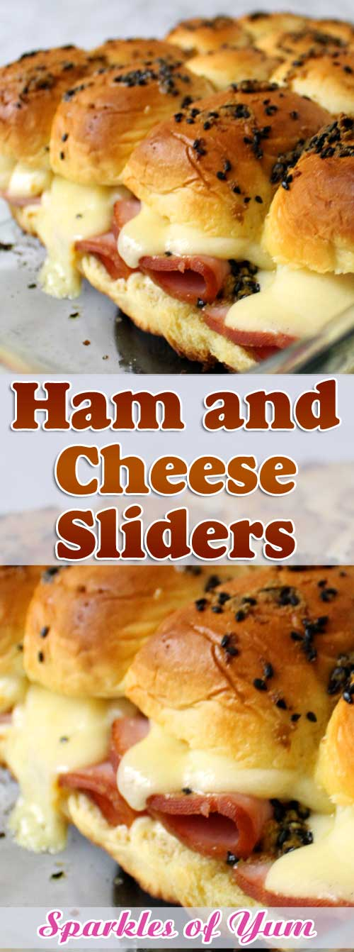 Sink your teeth into these Ham and Cheese Sliders and you won't be able to stop at one. They are so good, you'll want them at every party! #ham #sliders #sandwiches #tailgating #partyfood
