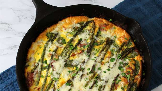 Looking for an awesome brunch recipe? Not only is this Asparagus and Prosciutto Frittata delicious. It is also quick, easy, and fun to make.