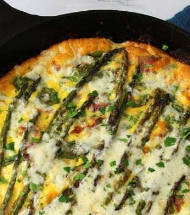 Asparagus and Prosciutto Frittata