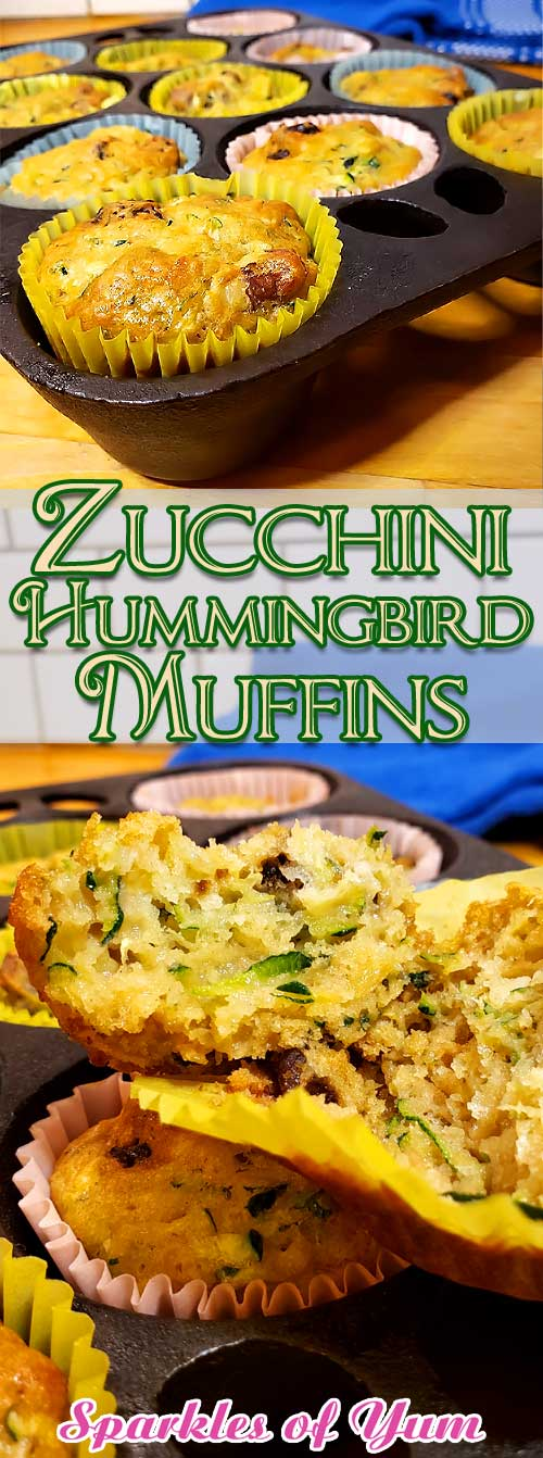 I have to say that I fell completely in love with these Zucchini Hummingbird Muffins. I could have made a whole meal out of them and would of been perfectly happy. #zucchini #muffins #baking #breakfast #dessert