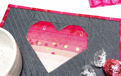 The Startled Heart Mug Rug: A Quick Valentine's Day Project
