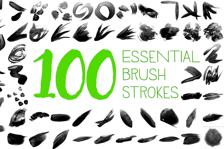 100 Essential Brush Strokes