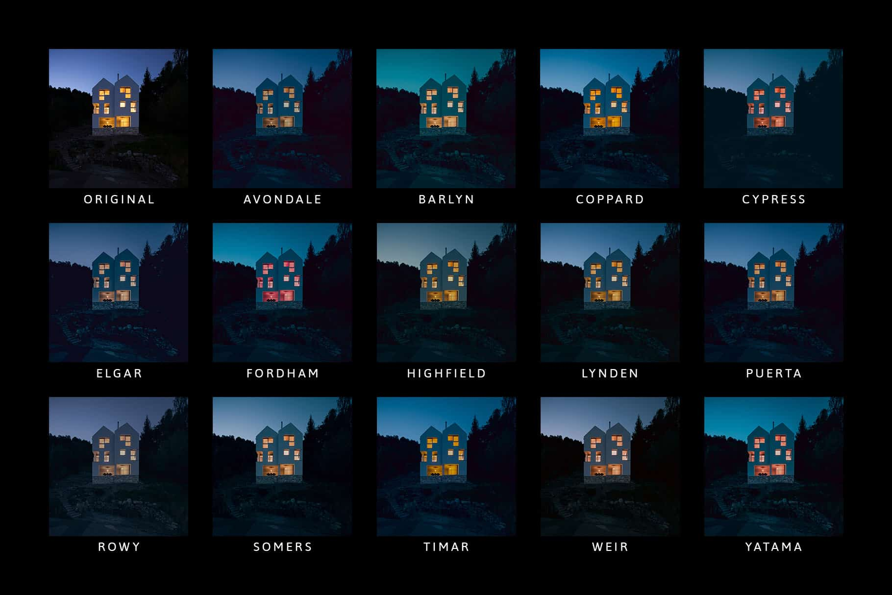 14 Midnight Lightroom Presets, Profiles and LUTs