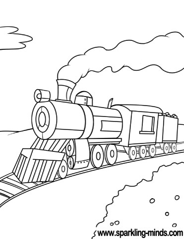 train coloring pages # 49