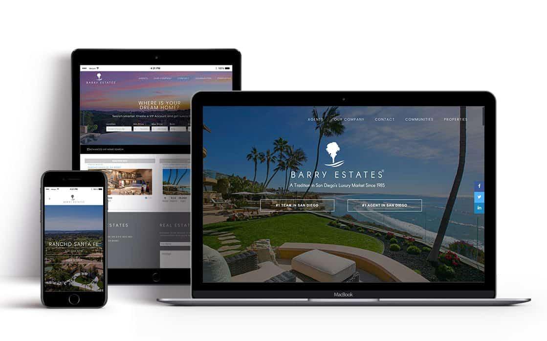 Best website design san diego barry estates