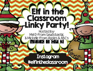 Elf in the Classroom Linky with a FREEBIE