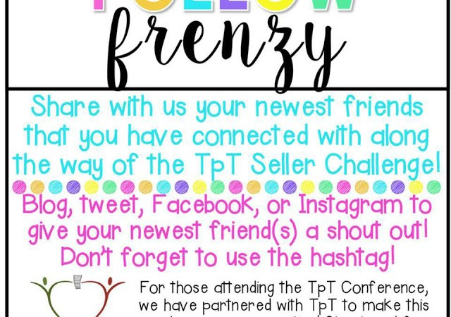 TpT Seller Challenge Week 4: Follow Frenzy