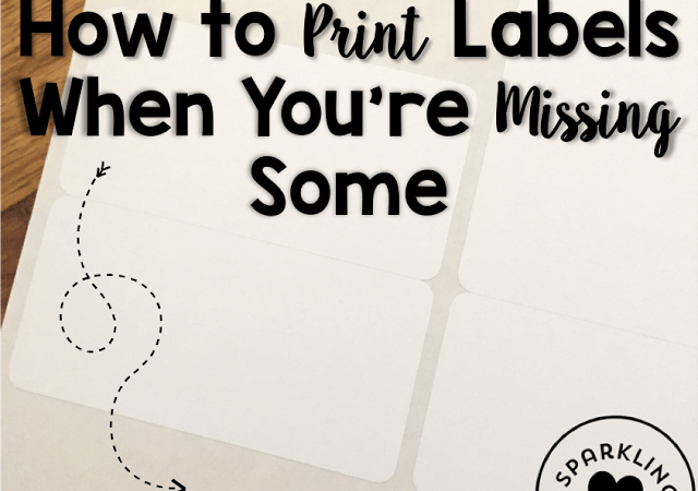 Printing Labels Tip