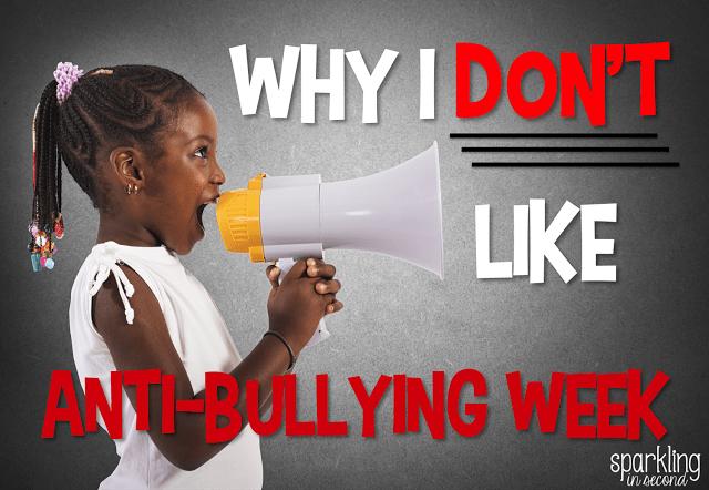 Why I Don't Like Anti-Bullying Week