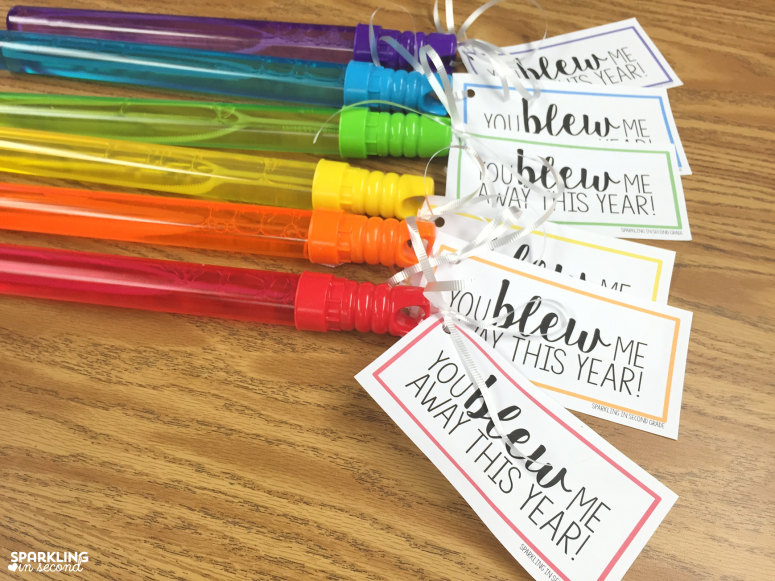 Easy Free Printable End Of Year Gift Bubble Tags All You Need To Do Is
