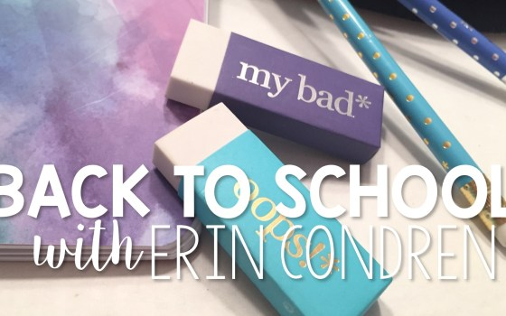 Back to School with Erin Condren