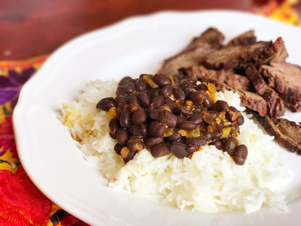 Simple to Make Traditional  Black Beans and Rice Recipe