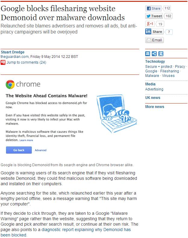 google-demonoid-filesharing-malicious-software