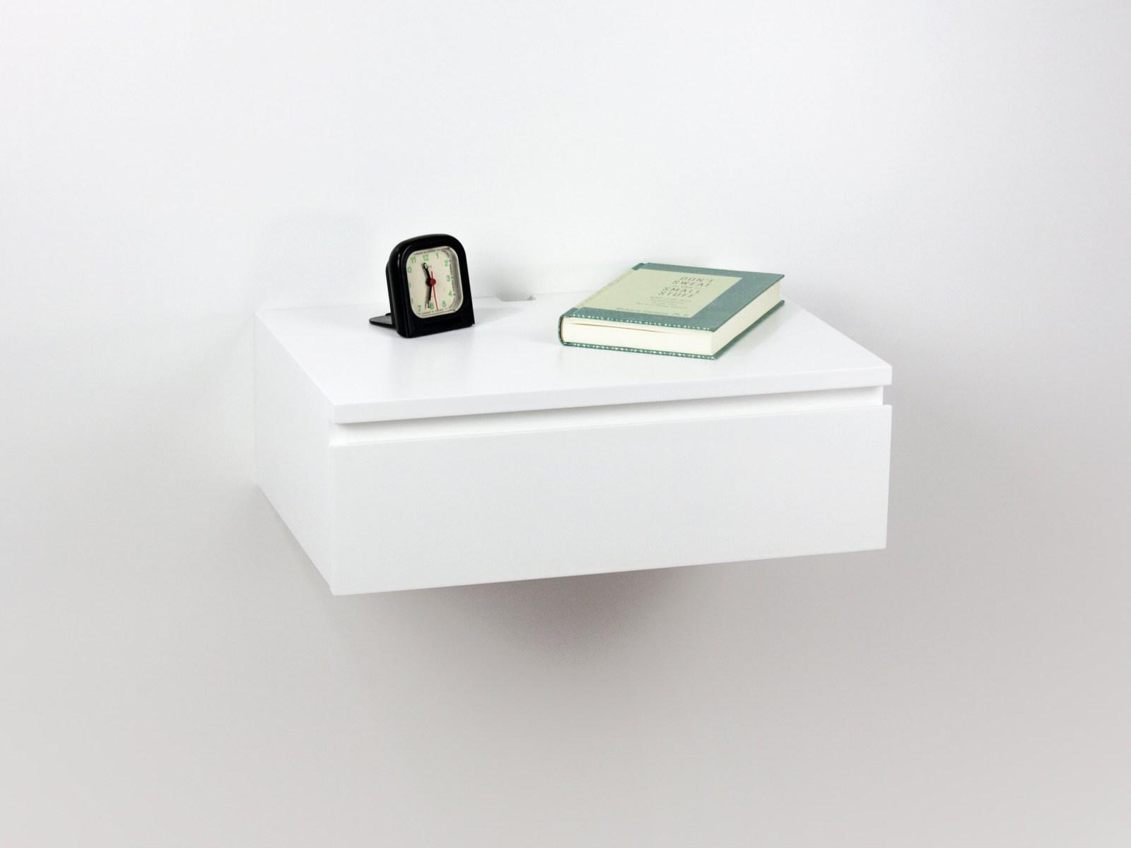 white floating drawer