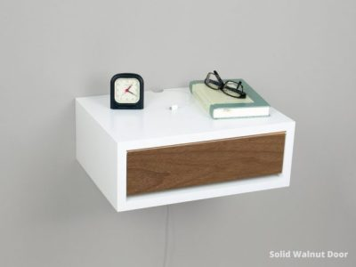 contemporary floating nightstand