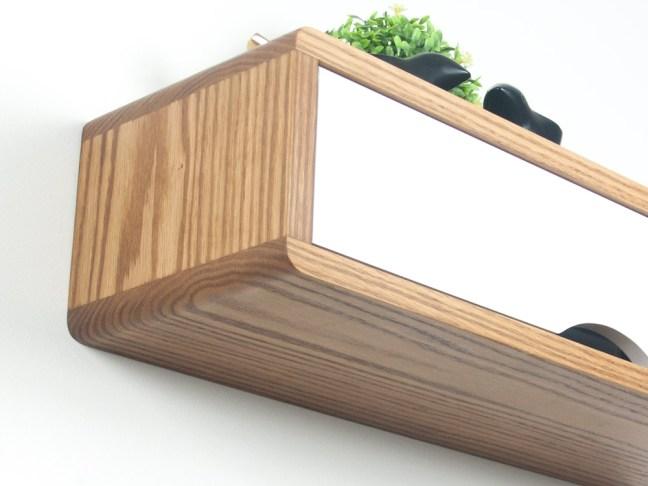Floating Entryway Shelf, hardwood floating shelf is the modern Danish wall cabinet