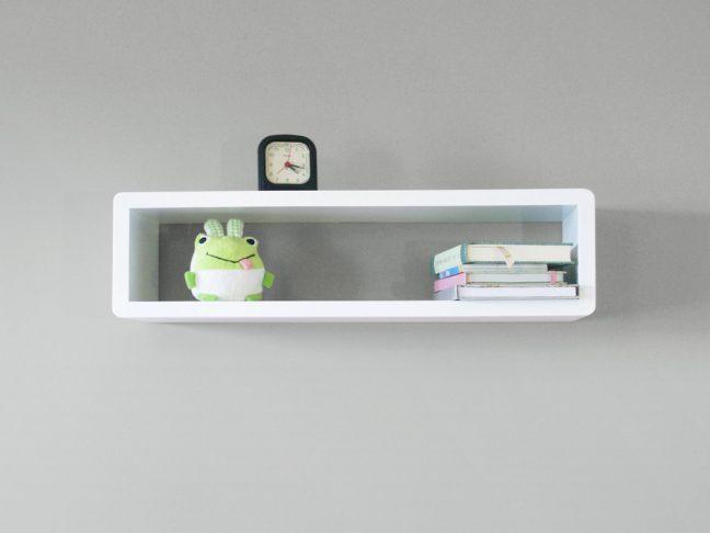 Slim Modern Floating Shelf Wall Mount Cube Shelf Spark