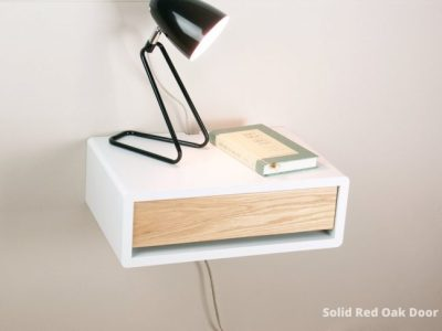 Augusta Mid-century Modern Floating Bedside Table, Wall Mount Nightstand