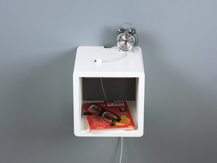 Whyte Cube Small Floating Nightstand