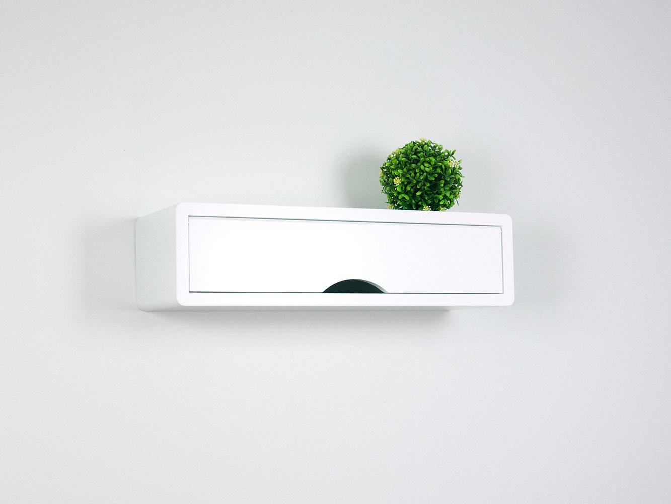 White floating shelf L