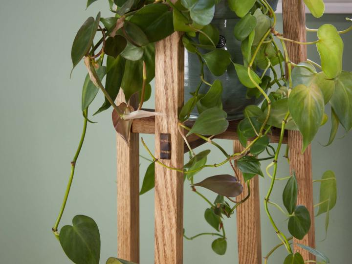 Tall Plant Stand For Small Pot, Scandinavian Plant Stand, Modern Pot Stand