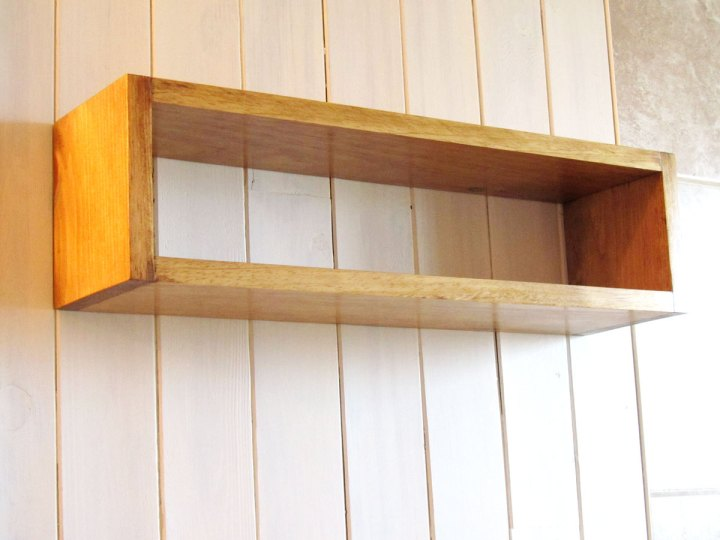 Simple Beautiful Floating Wood Cube Wall Mount Shelf, Floating Box Storage
