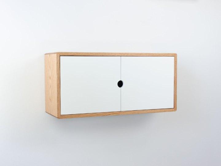 Blanca Minimalist Floating Cabinet, Modern Wall Cabinet, Floating Storage