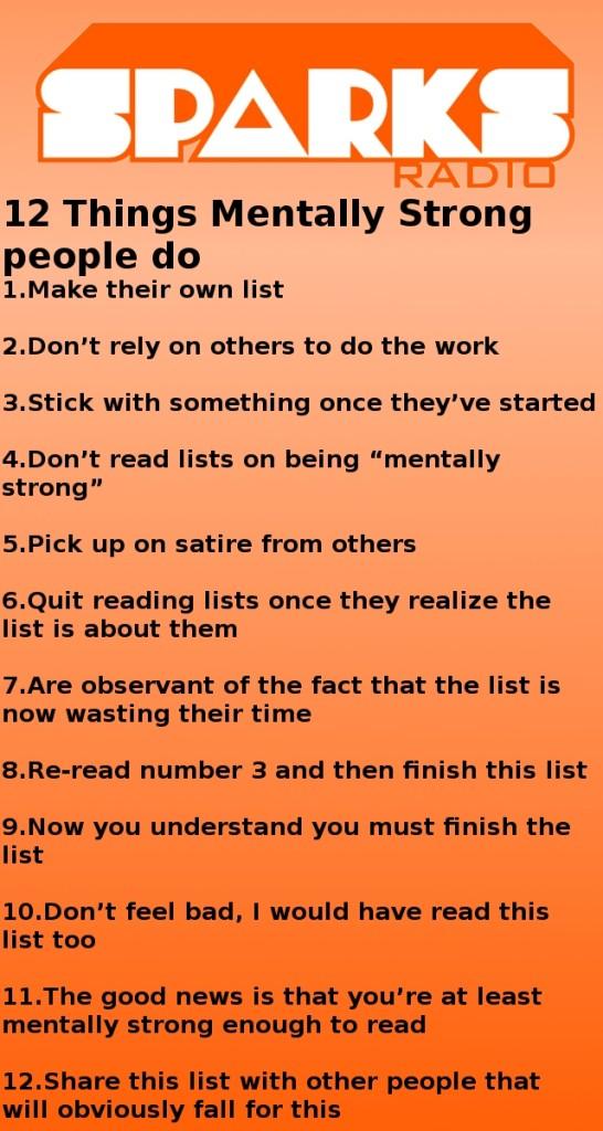 mentally strong list