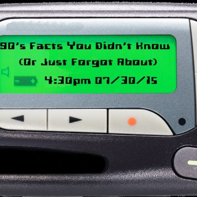 90's Facts You Didn't Know (Or Just Forgot About)