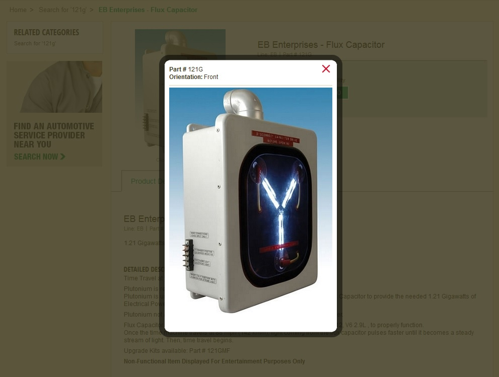 O'Reilly Auto Parts' Website Has A Secret BACK TO THE FUTURE Joke