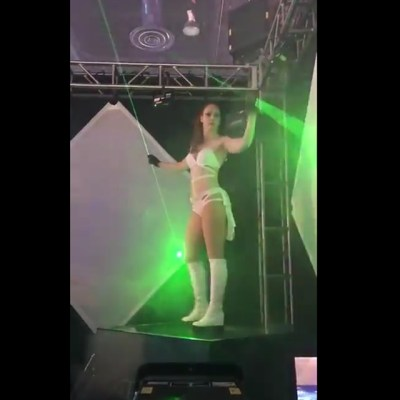 Watch This Lady Control Lasers!