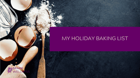 My Holiday Baking List