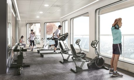 Gym with people_copyright Havila Voyages