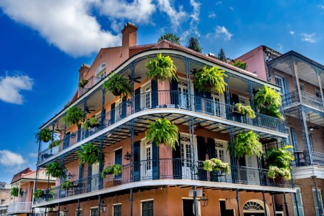 Old Building French Quarter Dumaine Street New Orleans Louisiana