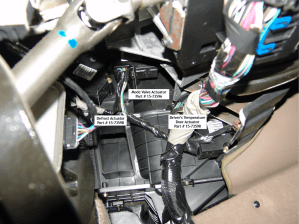 Sparky's Answers  2004 Chevrolet Trailblazer, Identifying Heater AC Actuators
