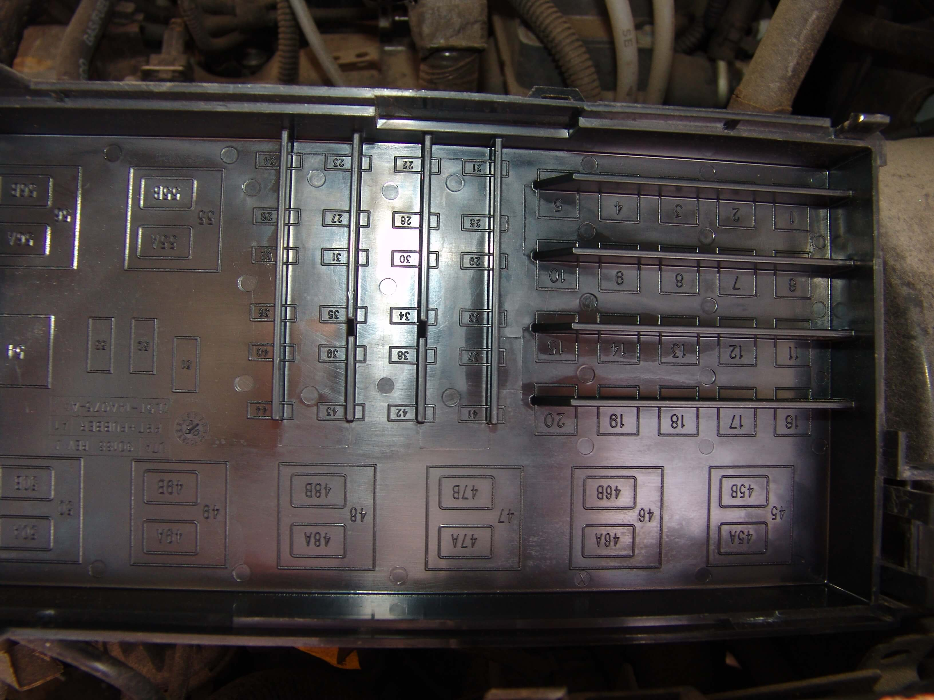 Sparkys Answers 2005 Ford Ranger Gauges Not Working Fuse Box Under Hood Power Comes From The Underhood To Interior Smart Junction Via A Dark Blue Wire I Spotted Fairly Large In Vertical