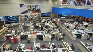 ABC 15 news studio. Photo credit to Andrea Charcas.