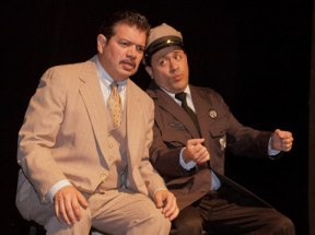 James Garcia as an actor in a play he produced and wrote.